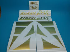 Heinkel Perle Aufkleber Seitendeckel Dekorset Schriftzug Sticker Set Satz Gold
