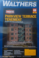 Walthers HO #933-3177 Parkview Terrace Background Building -- Kit  Form
