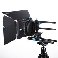 FOTGA Swing-away Matte Box+15mm Rail Rod Baseplate for DSLR Follow Focus Rig 5D3