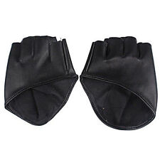 Fashion Ladies Half Finger PU Leather Gloves Fingerless Driving Show Palm Dance