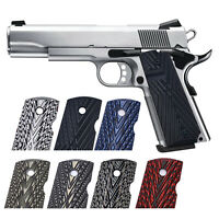 1911 Grips G10 For Full Size Gov Custom Pistol Grip Ambi Safety Cut OPS Texture