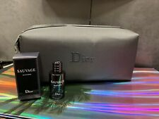 New Dior Sauvage ED Perfume 10ml Gift Set With A Black Toiletry Wash/ Travel Bag