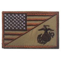 Embroidery America Flag USMC Marine Corps US Army Hook Loop Patch Fastener Badge