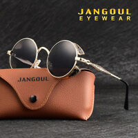 2018 Polarized Vintage Steampunk Sunglasses Retro Fashion Round Mirrored 2