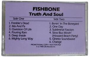 FISHBONE Truth & Soul 1988 Advance PROMO CASSETTE TAPE 80s Alt Ska Punk Funk