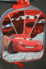 New Disney Cars Lightning McQueen Boys Kids Grey Backpack Childrens School Bag