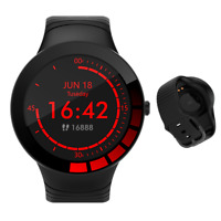 Smartwatch E3 Bluetooth Uhr Rundes HD Display IP68 Wasserdicht Wettervorhersage
