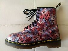 DOC DR. MARTENS PINK LONDON ICONS DESIGNS BOOTS RARE VINTAGE MADE IN ENGLAND 5UK