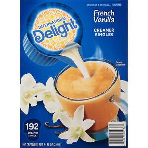 International Delight French Vanilla Coffee Creamer Singles 192 ct