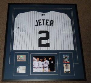 Core Four Signed Framed 33x36 Derek Jeter Jersey Display JSA Rivera Pettitte JP
