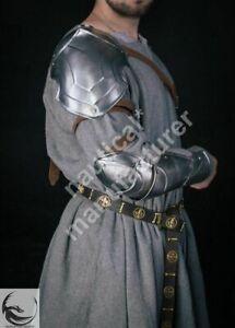 Medieval Shoulder armor of single pauldron & metal bracer knight cosplay Costume