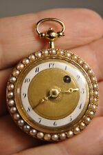MONTRE GOUSSET ANCIENNE OR MASSIF 18K EMAILLE XVIII ANTIQUE ENAMELED GOLD WATCH