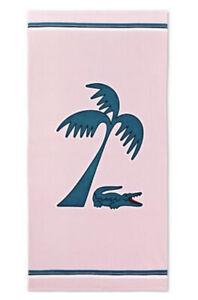 "Lacoste 🐊 Crocs Palm Beach Towel 36"" x 72"" Pink Multi NWT"