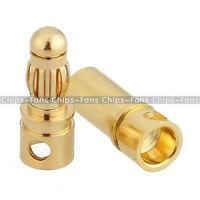 20PCS 10Pairs 3.5mm Gold Plated Male&Female Bullet Banana Plug Connector for ESC