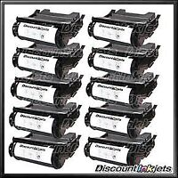 10PK 64015HA for Lexmark BLACK High Yield Toner Cartridge T642 T644 T644tn T642n