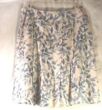 4b252a4bd0 ANN TAYLOR u Women s SKIRT Size Large below knee blue floral linen blend