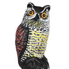 Large Realistic Owl Decoy Straight Head Weed Pest Control Crow Scarecrow Plastic