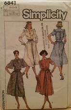 UNCUT VINTAGE SIMPLICITY#6841 MISSES' SZ 10-12-14 SHIRT DRESS SEWING PATTERN