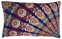 Ethnic Pillow Case Pure Cotton Cushion Cover Sham Indian Handmade Mandala Hippie