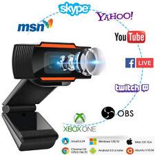 HD Webcam w Microphone USB Streaming Camera For PC/Mac Laptop Desktop Video Call
