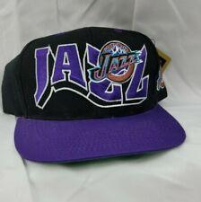 Vintage Utah Jazz NBA SnapBack Deadstock NWT  Big Logo purple & black