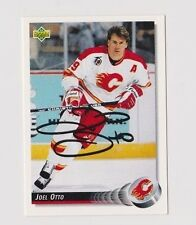 92/93 Upper Deck Joel Otto Calgary Flames Autographed Hockey Card
