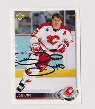 92/93 Upper Deck Joel Otto Calgary Flames Autographed Hockey Card