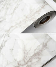 Contact Paper Wallpaper Grey Marble White Black Countertop Cabinet Shelf Liner