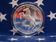 GSM 2014 Year of the Horse Uncirculated 1oz Troy .999 Fine Solid Silver Coin USA