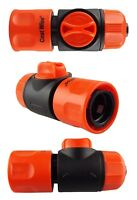 Garden hose female hose valve with click-lock connector(water flow control)