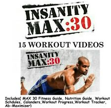 Insanity MAX 30 Fitness Workout Program 15 Fitness Videos