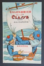 carte calendrier de la classe aujourd'hui encore... jours à faire Marine Marin