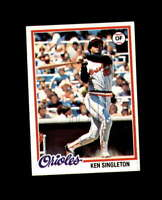 Ken Singleton Hand Signed 1978 Topps Baltimore Orioles Autograph