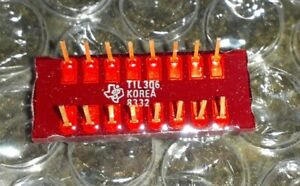 TIL306 TEXAS 7-SEGMENT NUMERIC LED DISPLAY