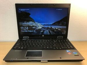 HP EliteBook 8540w i7 Quad 1.7G 8GB 128GB SSD Radeon M5800 Win10 WIFI DVD Laptop