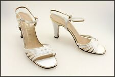 BRUNO MAGLI VINTAGE DESIGNER WOMEN'S HIGH HEELS STRAPPY OPEN-TOE SHOES SIZE 7.5