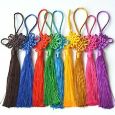 5X Handmade Chinese Knot Tassel Craft Gift Jewelry Making DIY Feng Shui Pendant