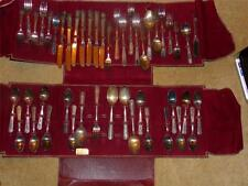 """W.M RODGERS VNTG SILVERWARE SET SILVER PLATED """"IS"""" MARKING PATTERN IS CAMELOT"""