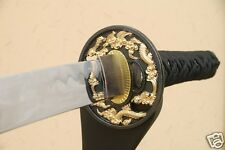 "41"" BLACK GOLD DRAGON Japanese Samurai Ninja Sword Katana MADE IN JAPAN SW005"