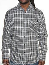 Etnies Shirt New Mens Kettle Gray Skateboard Plaid Button Up Shirt Size Medium