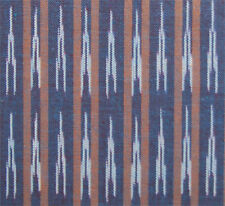 Ikat, Artisan Fabric. Navy, Tan, White. Hand-Dyed, Hand-Woven, India Cotton