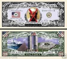 BEN LADEN USA ENEMI PUBLIC N°1 Billet collection DOLLAR