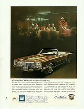 "1972 Cadillac Eldorado Magazine Ad ""If ever there were a thoroughbred of cars.."""