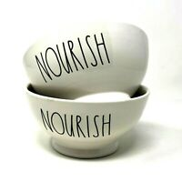 Rae Dunn Nourish Cereal Bowl Lot of 2 Artisan Collection Magenta Microwave Safe