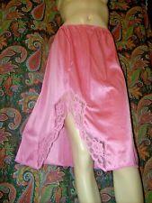 Vintage Vanity Fair Pink Nylon Lacy Slit Half Slip M
