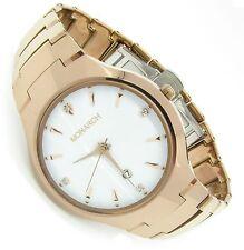 Luxus Tungsten Wolfram Herren Armband Uhr Datum Zirkonia Diamant Wt Rose Germany