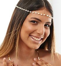 Cadena para cabello cabeza pieza Matha Patti Bufanda Hijab Nuevo Bisutería desgaste de Plata 1