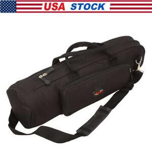 Portable Nylon Brand Padded Trumpet Soft Case Student Gig Bag Black Color