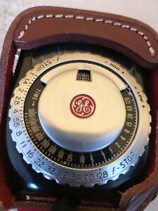Vintage GE General Electric Type PR-1 Exposure Meter Light Meter W/ Case