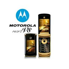 TELEFONO CELLULARE MOTOROLA RAZR2 V8 GOLD 2GB BLUETOOTH FOTOCAMERA LUXURY-